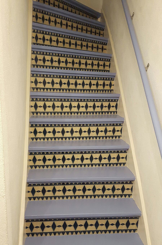 stairs stickers art deco behangfabriek