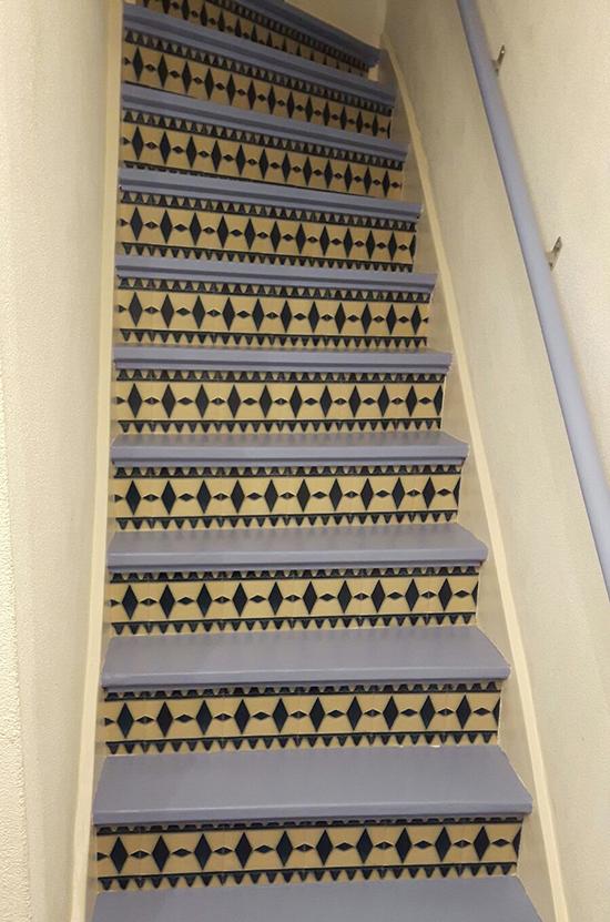 stairs stickers art deco behangfabriek