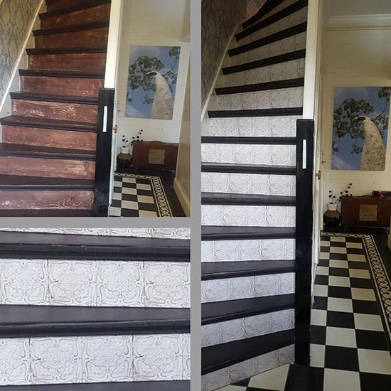 stairs makeover sticker azulejo