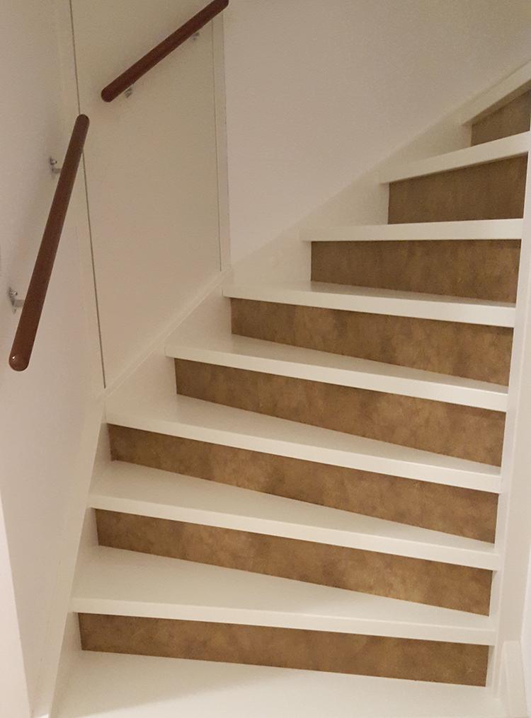 stairs stickers leather traprenovatie