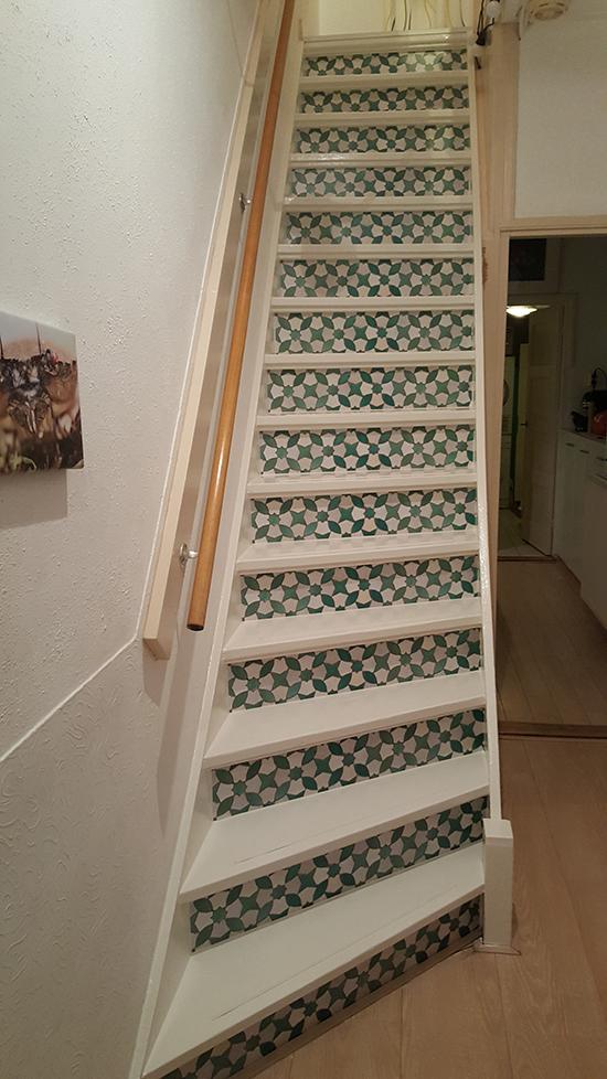 trapsticker mozaiek groen behangfabriek