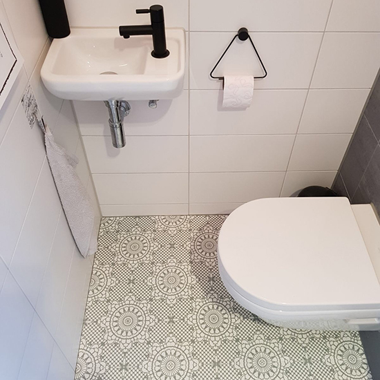 vinyl tiles pale green vloerfabriek