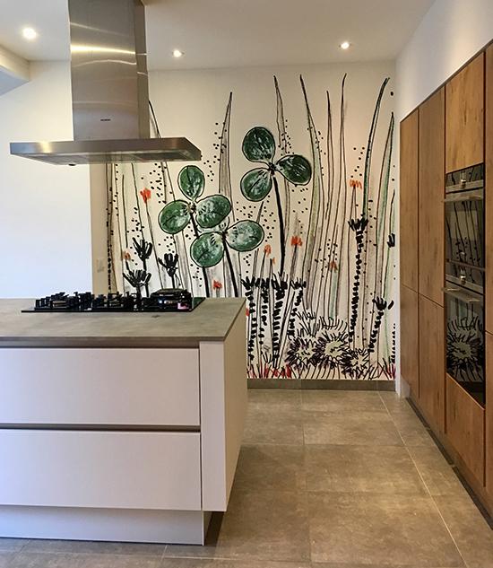 luxe wallpaper gouache wall and deco behangfabriek