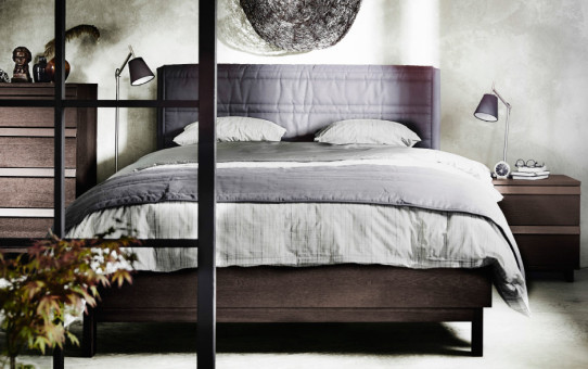 Ikea OPPLAND bed hout