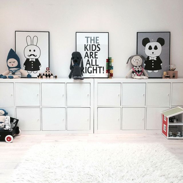 ikea kallax cupboard kids room