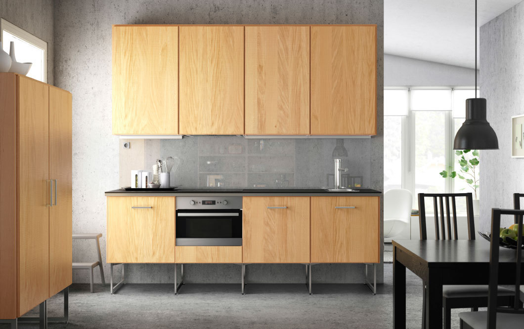 ikea design kitchen hyttan oak