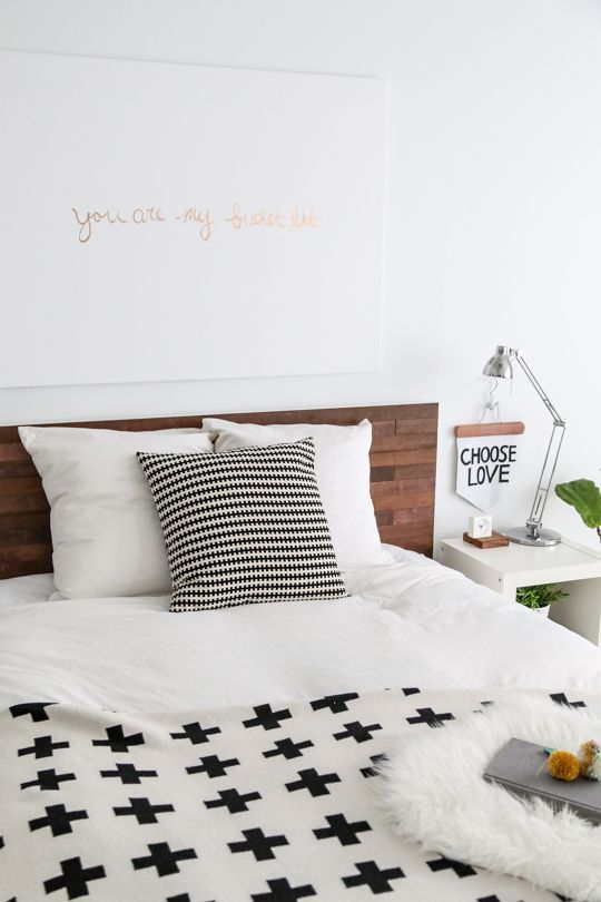 ikea hack malm bed headboard hout
