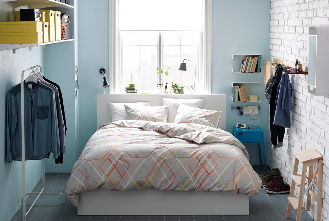bright nordic bedroom malm bed ikea