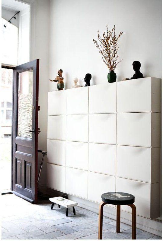 Ikea Trones shue storage hallway