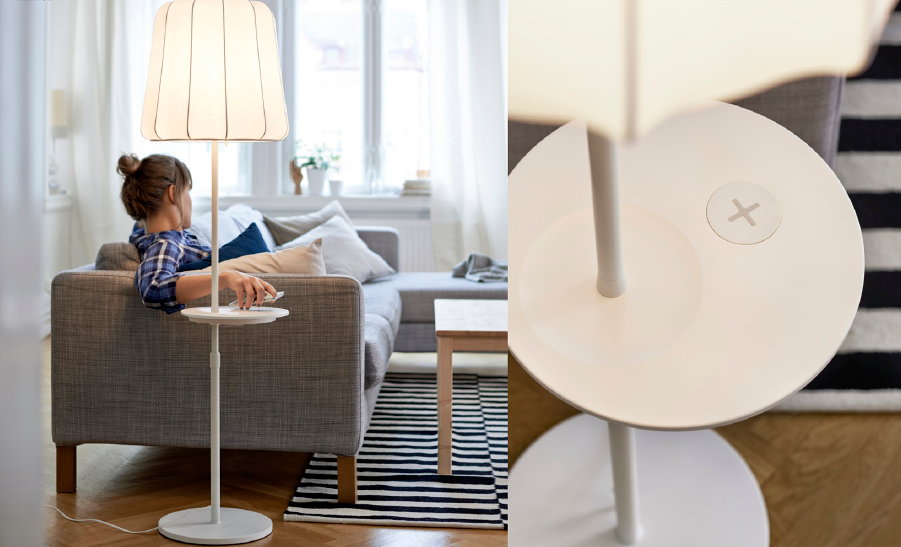 ikea varv design lamp phone charger