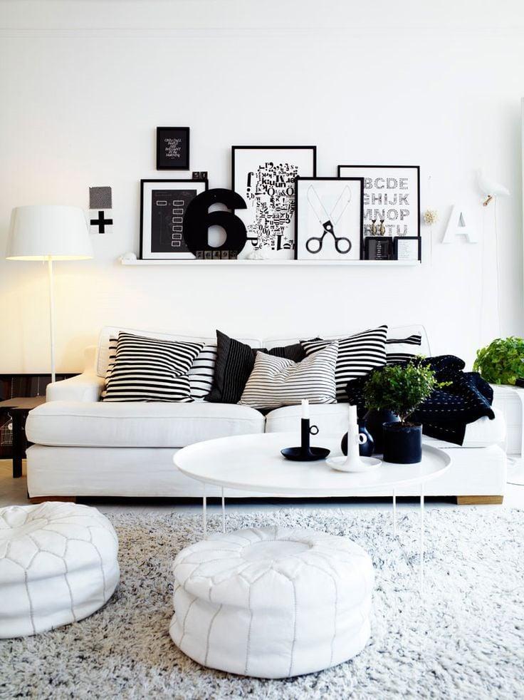 nordic style ikea living room black white