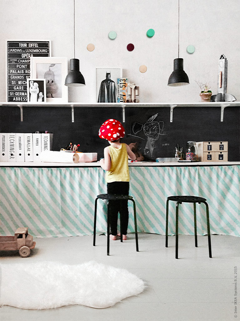 ikea ekby child play wall ribba