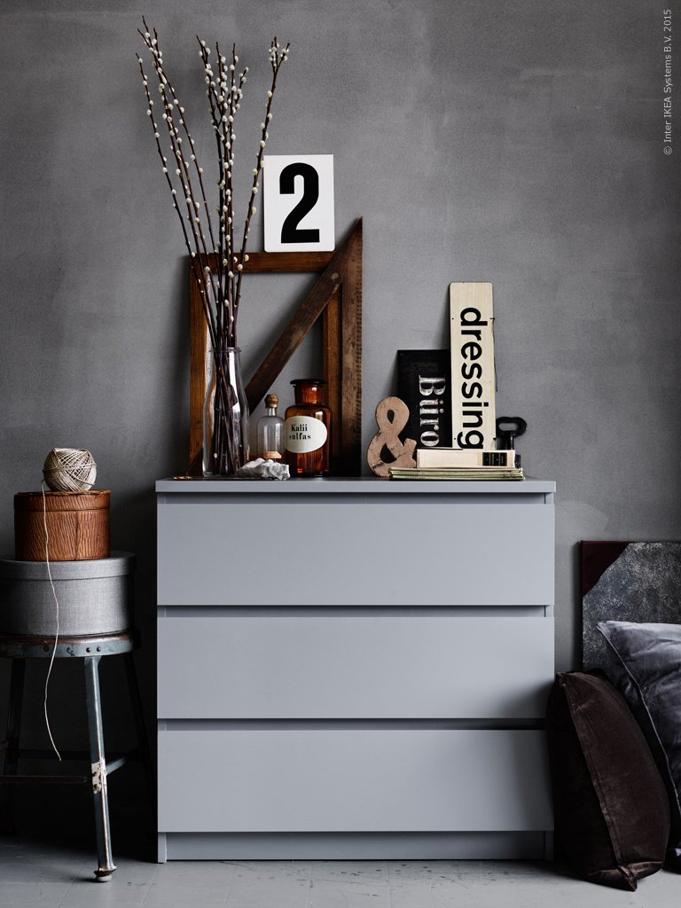 ikea malm drawer grey
