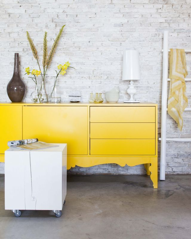 ikea trollsta tv cabinet yellow