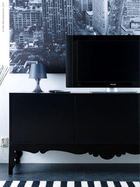 trollstra cabinet ikea black
