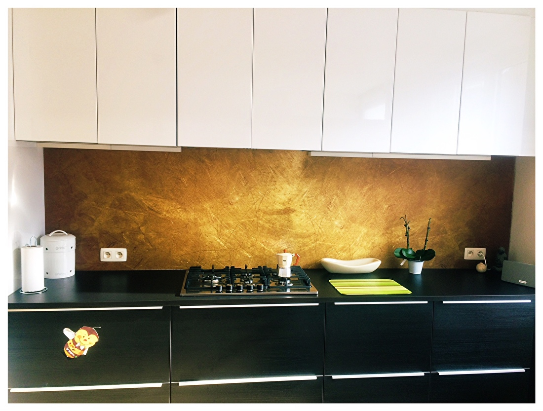 kitchenwalls keukenbehang gold