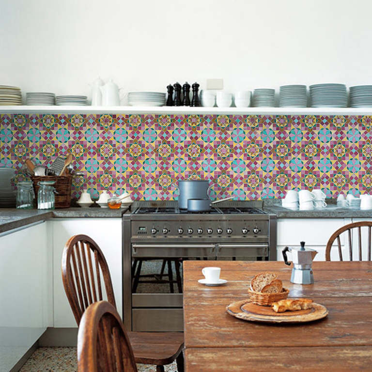 kitchenwalls backsplash wallpaper boho