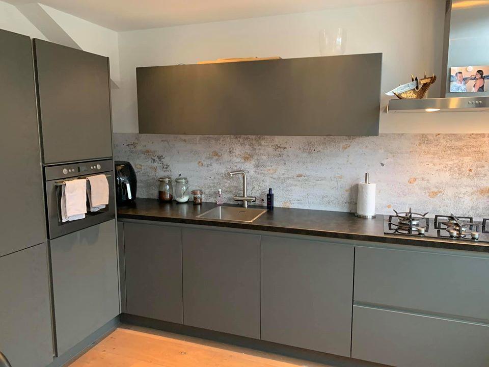 kitchen walls backsplash wallpaper concrete