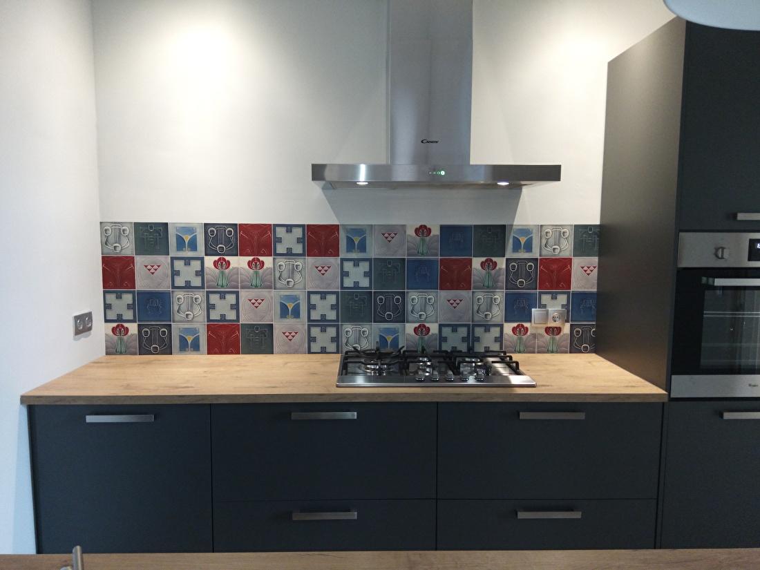 kitchenwalls keukenbehang art nouveau