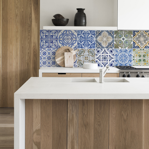 kitchen walls keukenbehang portugal tiles