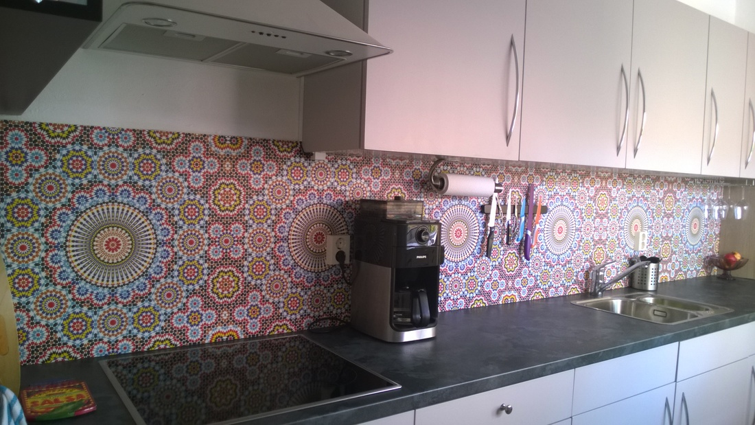 kitchenwalls backsplash wallpaper maroc