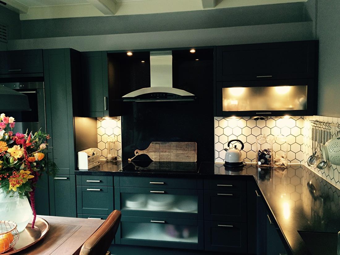 kitchenwalls keukenbehang hexagon klant