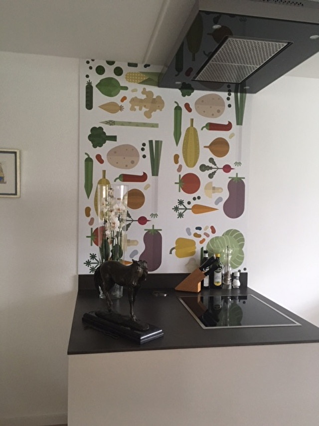 kitchen-walls keukenbehang veggies happy customer