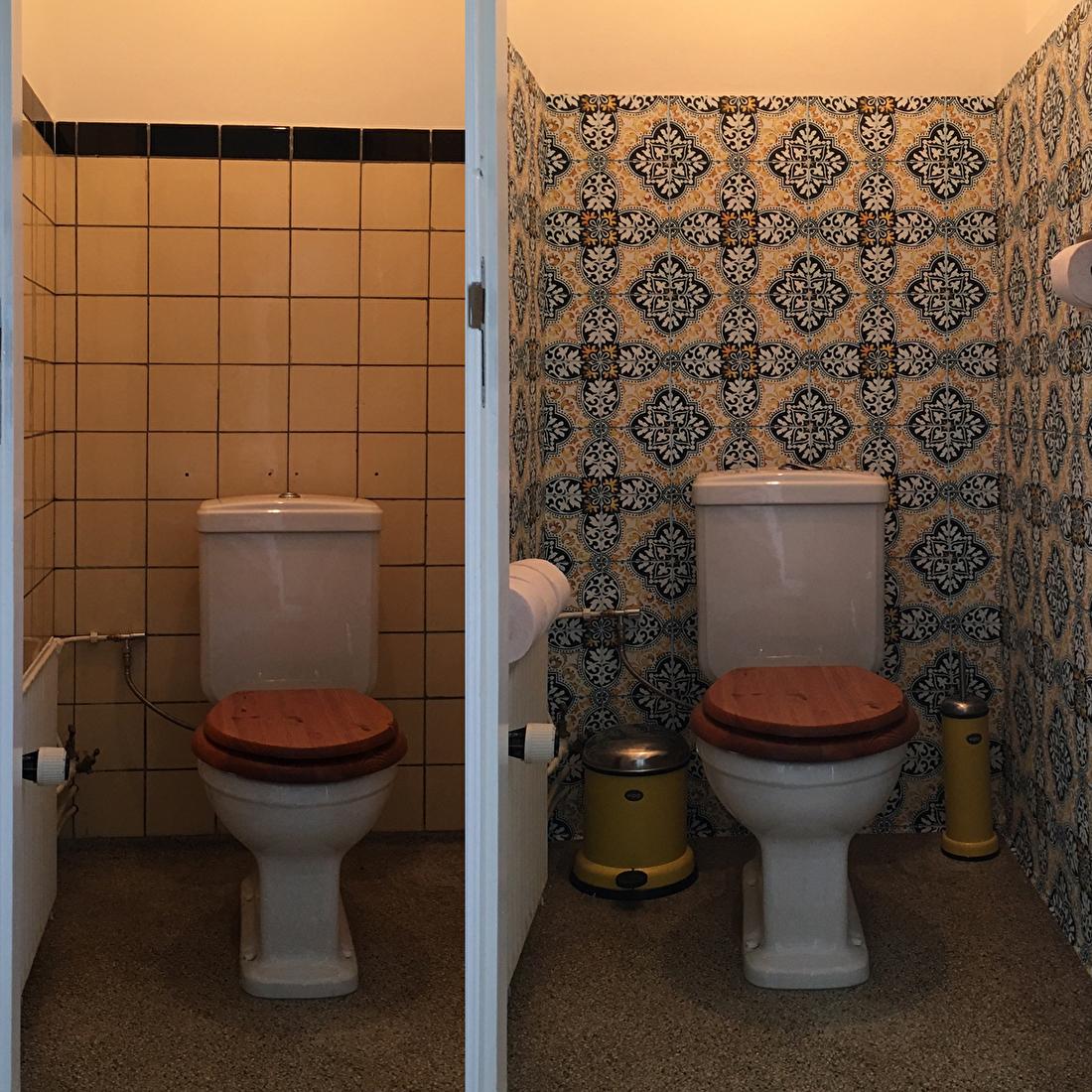 kitchenwalls makeover toilet
