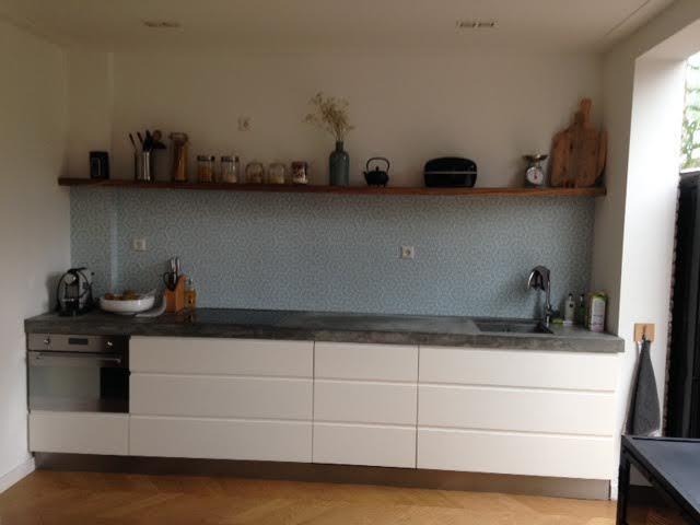 kitchenwalls keukenbehang vintage bloem klant