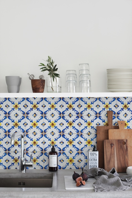 kitchenwalls keukenbehang vintage tiles