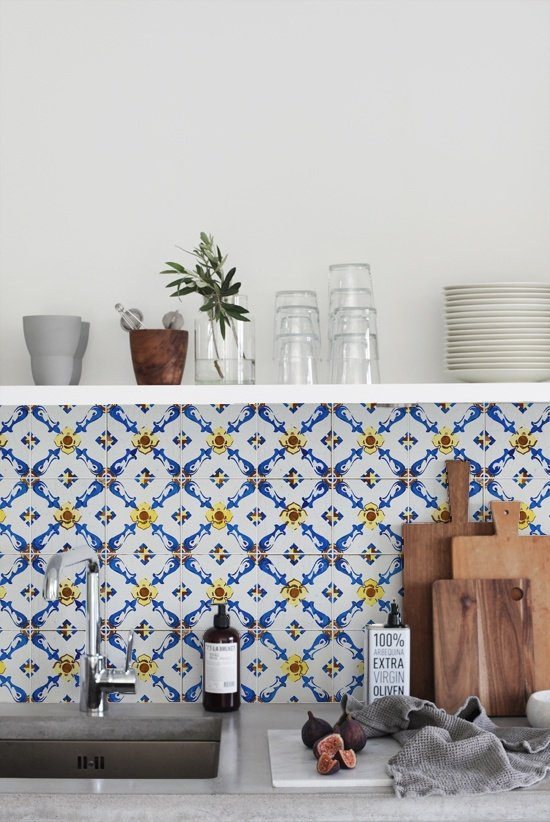 kitchenwalls behangfabriek vintage tile