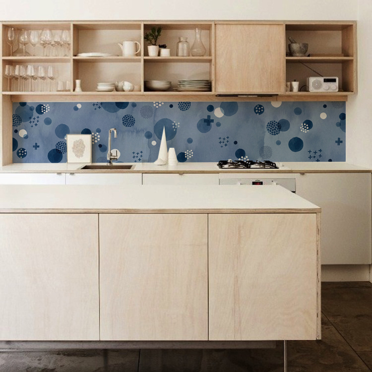 kitchen walls backsplash wallpaper tapete kuchen