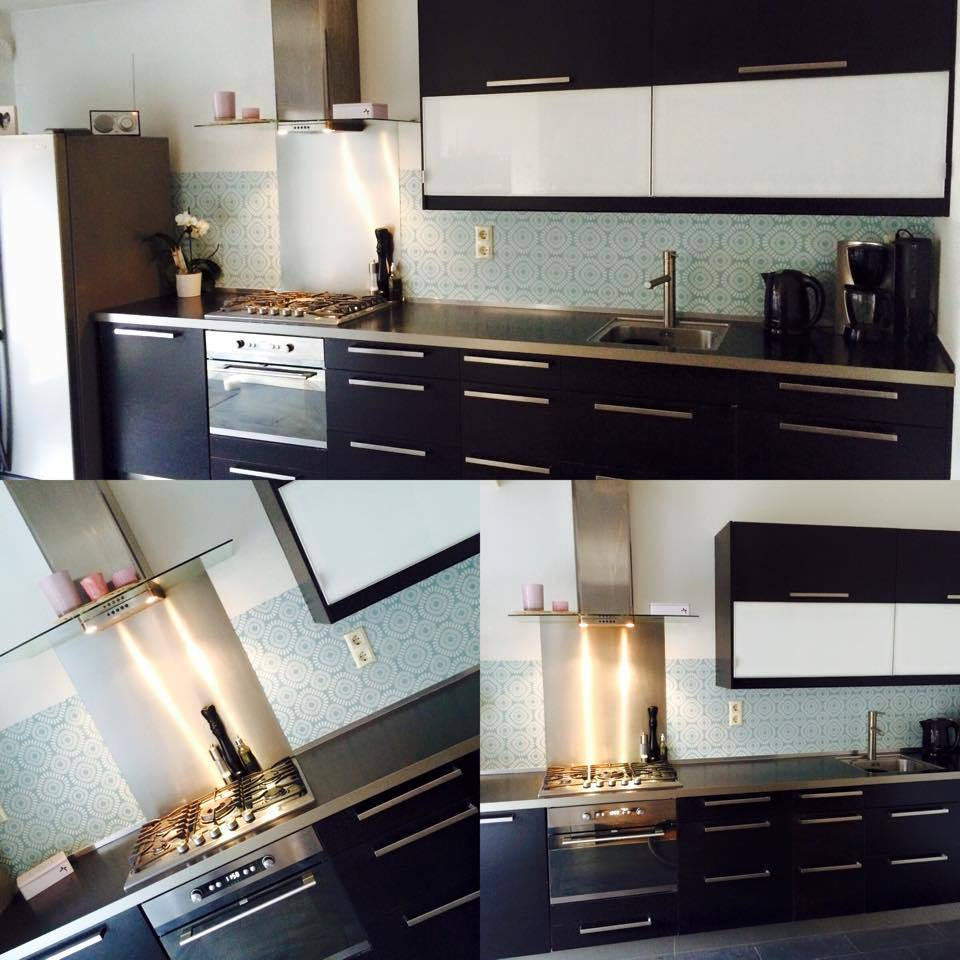 kitchenwalls keukenbehang retro green happy customer