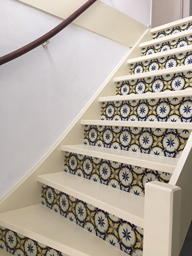 stair sticker portugese tile behangfabriek