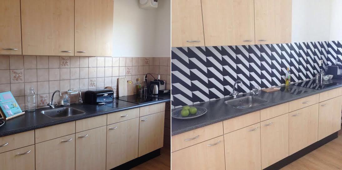 kitchenwalls backsplash wallpaper rental home