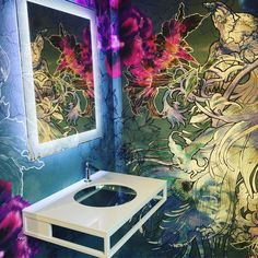 wall and deco bathroom wallpaper tapete mystical dream