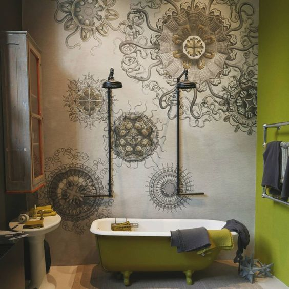 wall and deco wet medusea badkamerbehang