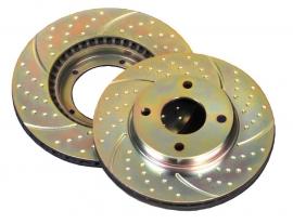 Remschijfset EBC Grooved Discs Peugeot 107