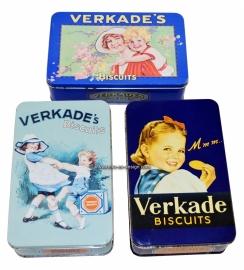 Vintage Koekblikken of koektrommels van Verkade