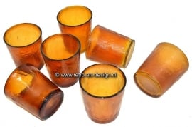 Tasses Arcoroc Sierra, verre ocre