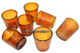 Arcoroc Sierra drinking glasses, Amber