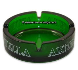 Vintage cendrier en verre vert, Stella Artois