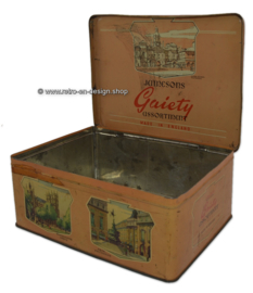 Vintage Jameson's chocolate tin with Tower of London and Tower Bridge