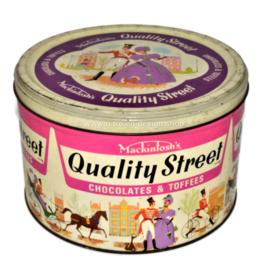 Boîte à bonbons vintage des années 60 - 70 par Mackintosh Quality Street