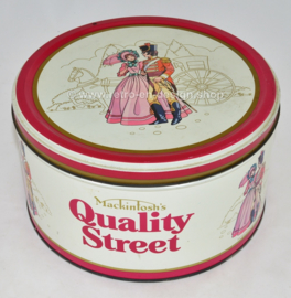 Vintage blikken snoeptrommel Mackintosh's Quality Street assorted milk and plain chocolates & toffees