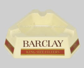 Vintage Barclay triangular plastic ashtray made of Melamine