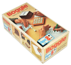 Boggle, discover the largest number of words. Word game from 1978