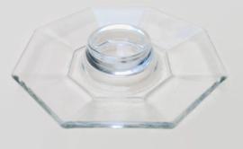 Eierdop Arcoroc France, Octime Ø 14 cm Doorzichtige glazen uitvoering!