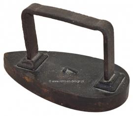 Alte antique Eisen Bügeleisen  Glättstahl Bügelgerät # 7