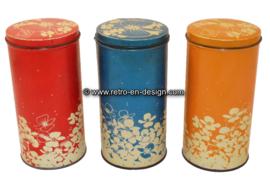 Vintage set Hooimeijer rusk tins